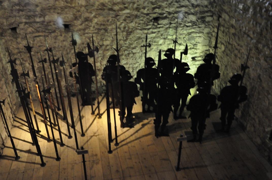 Representació del cos de guàrdia del castell de Chillon