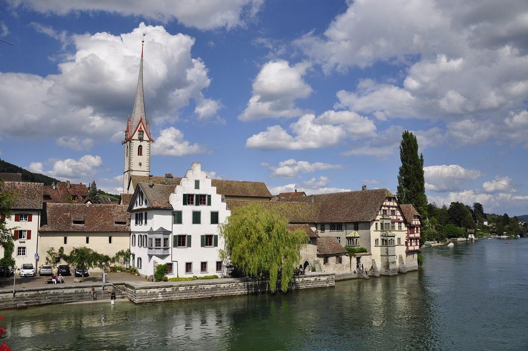 Stein am Rhein vista des del pont del Rin