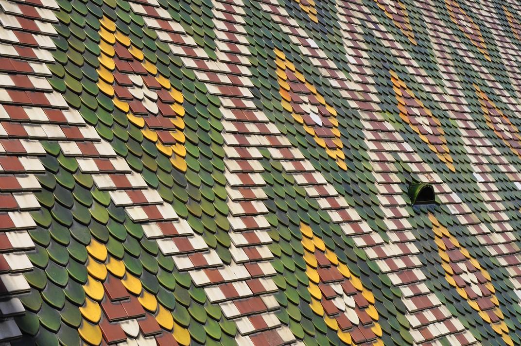 Teulada de colors de la catedral de Basilea