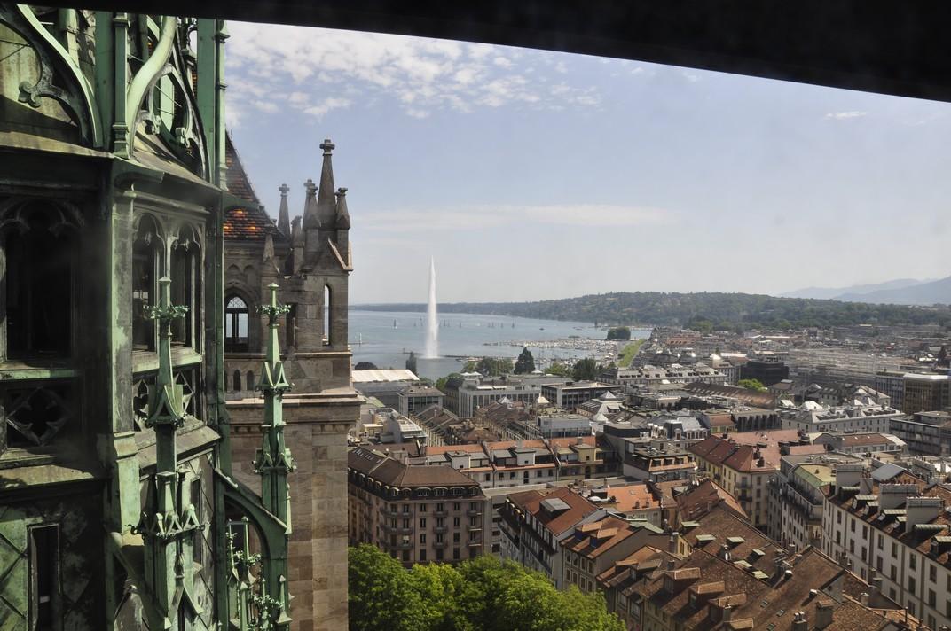 Torre nord de la Catedral de Sant Pere de Ginebra