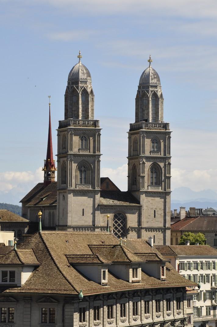Torres bessones de la gran catedral de Zuric