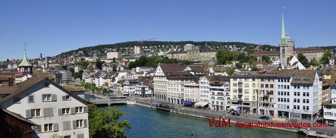 Vistes del barri de Niederdorf des de Linderhof de Zuric
