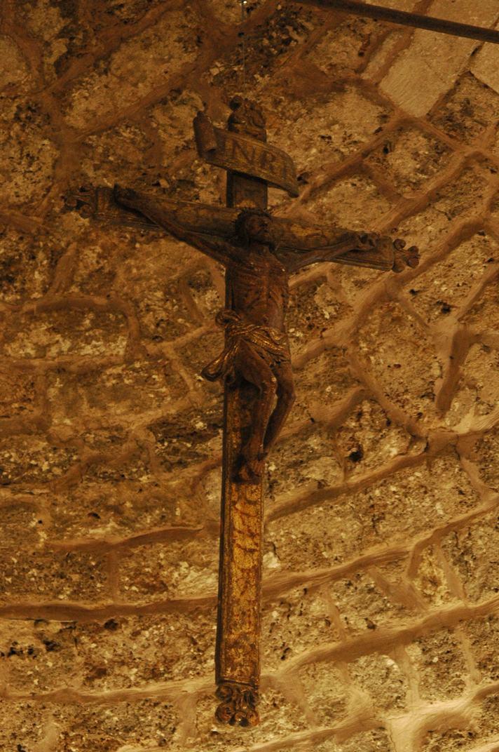 Crist de fusta de l'església de Sant Esteve de Betren