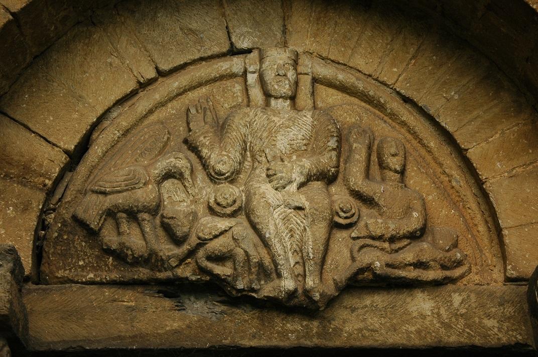 Crist en Majestat del timpà de la portada de l'església de Sant Fèlix de Vilac