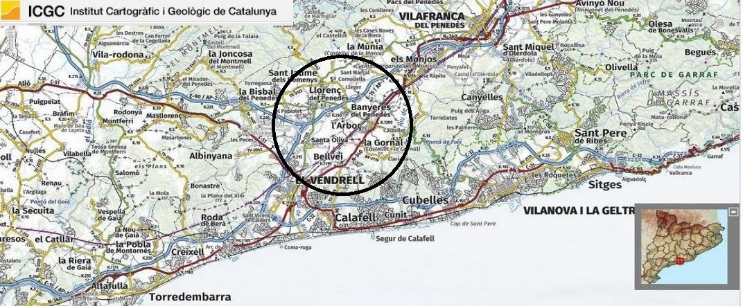 Mapa de localització de L'Arboç