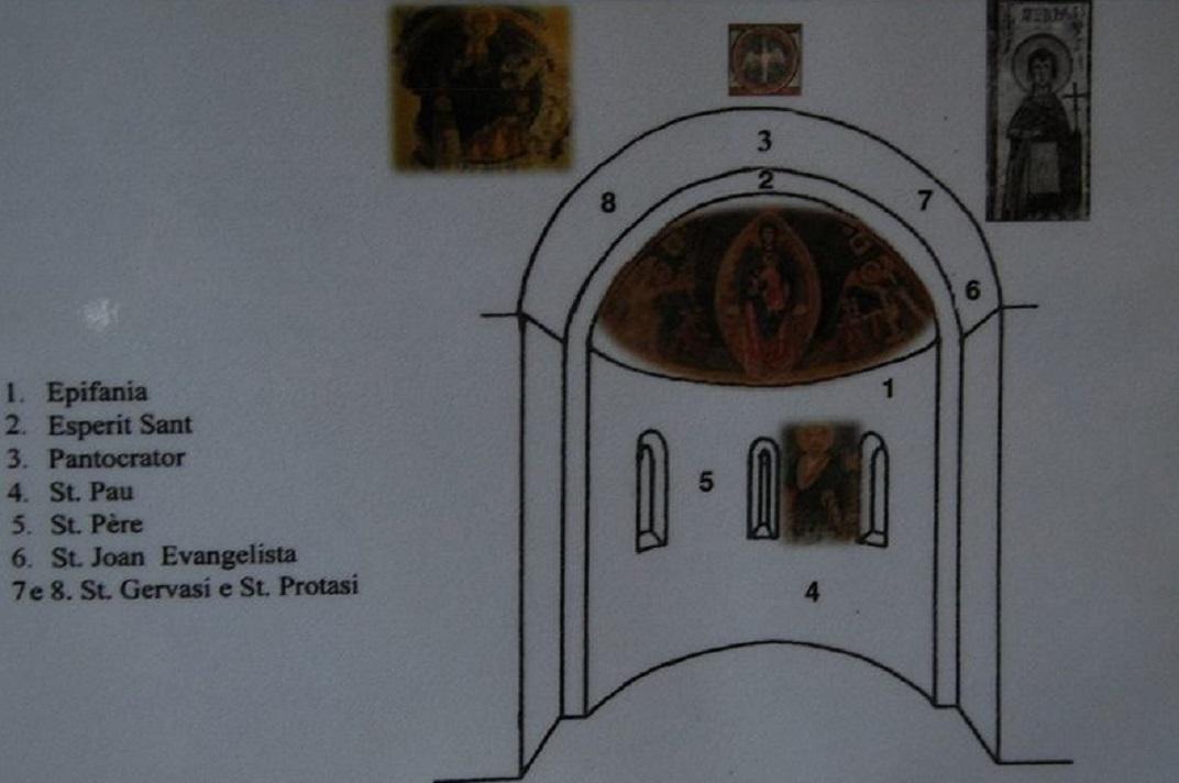 Maqueta de l'absis central de l'església de Santa Maria de Cap d'Aran de Tredòs