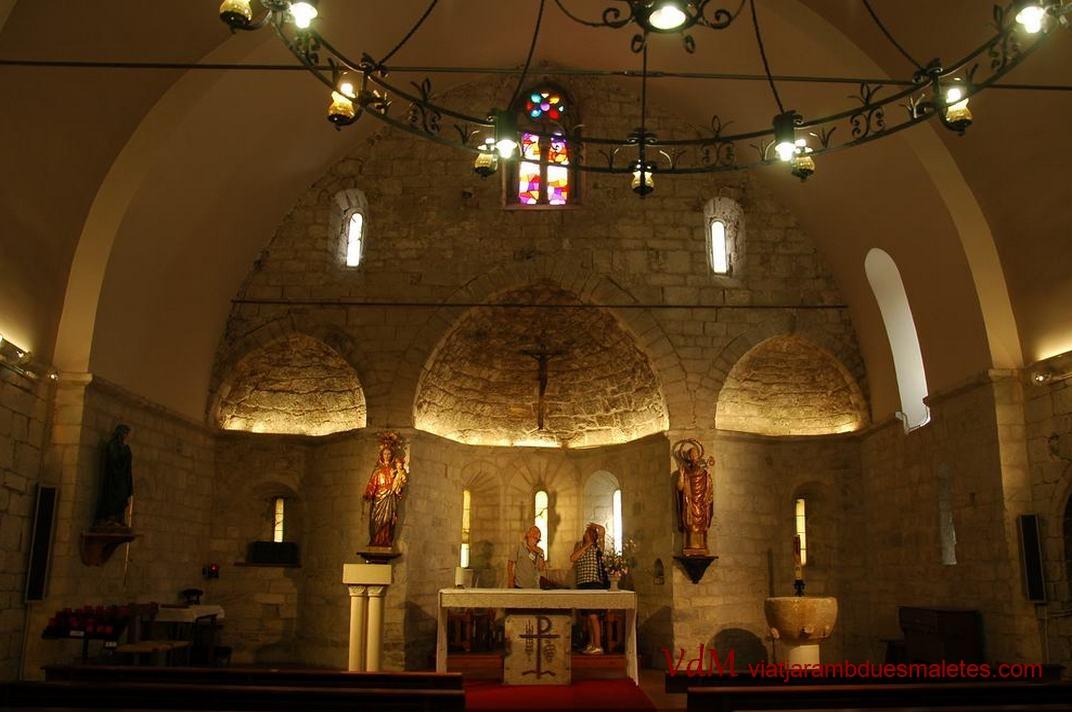 Nau única de l'església de Sant Esteve de Betren