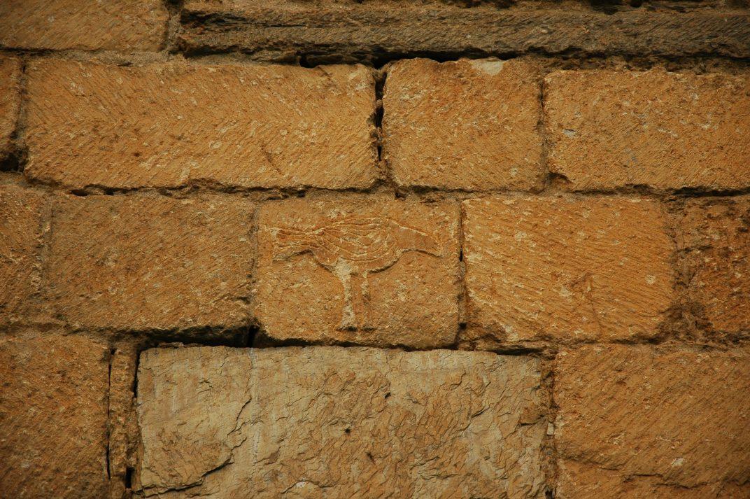 Ocell al mur sud de l'església de Sant Fèlix de Vilac