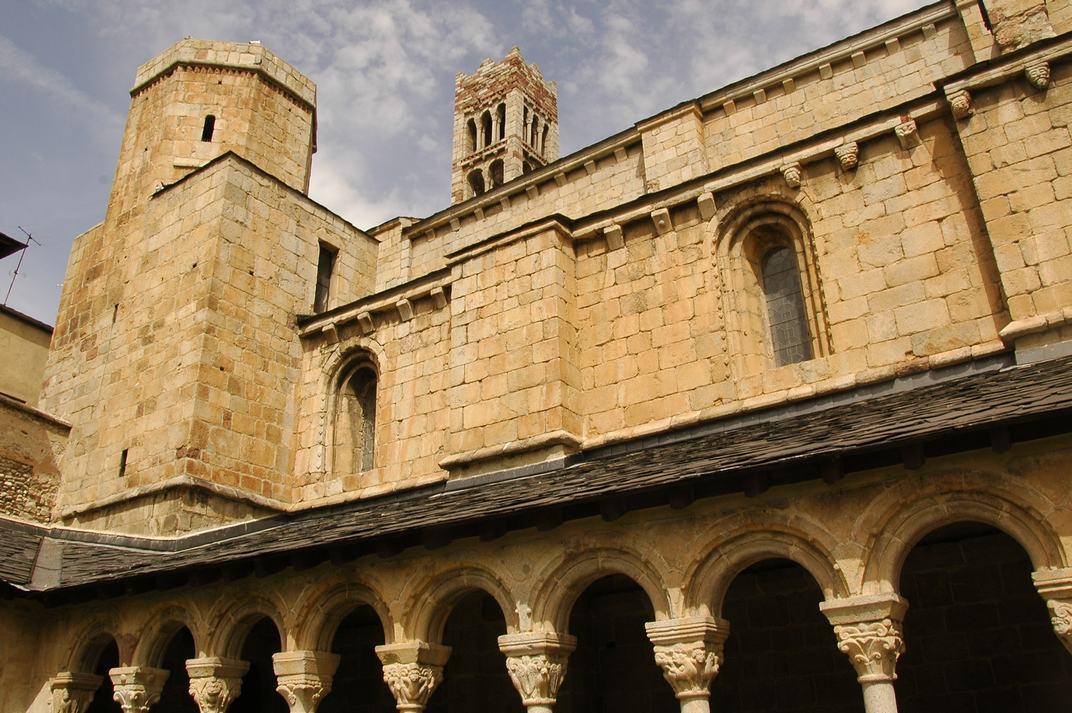 Part superior del claustre de la Catedral de Santa Maria de la Seu d'Urgell