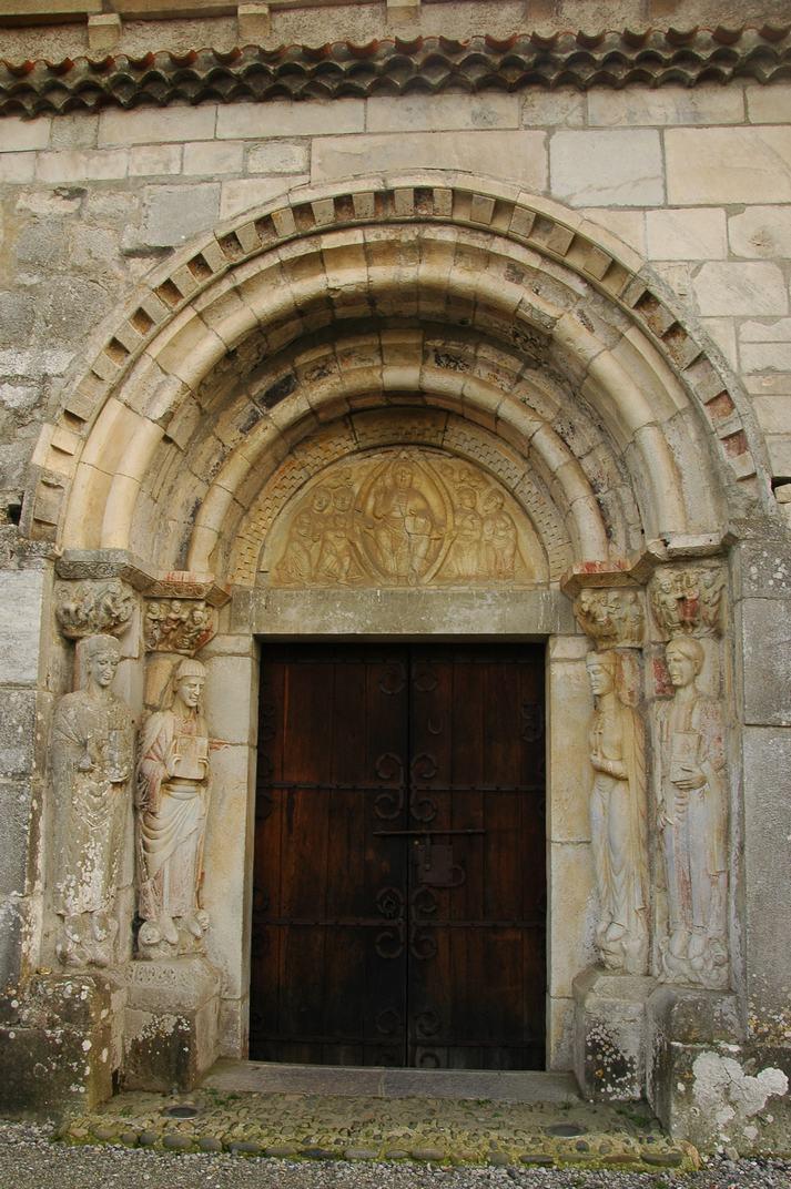 Portalada nord de la basílica de Sant Just de Valcabrère