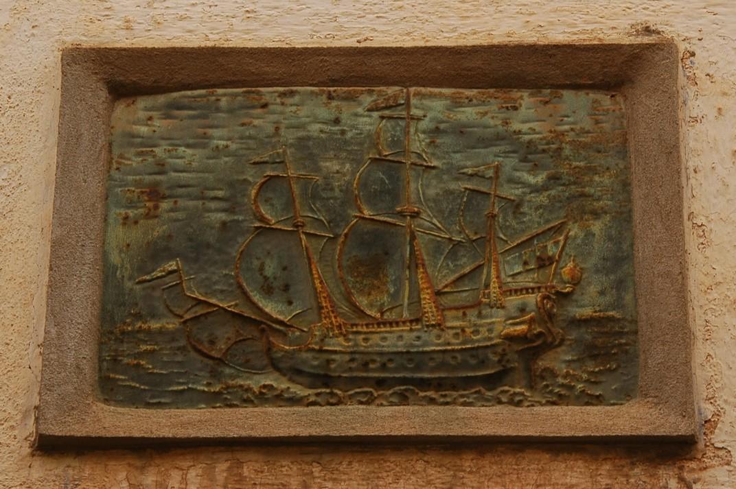 Relleu de vaixell de la casa de 1769 de Lloret de Mar