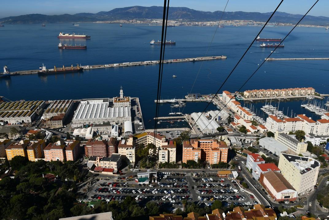 Accés del telefèric de Gibraltar