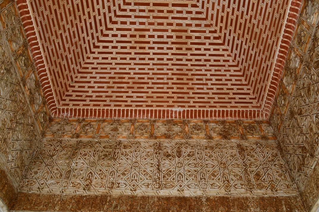 Detalls del Palau Nassarita de l'Alcassaba de Màlaga