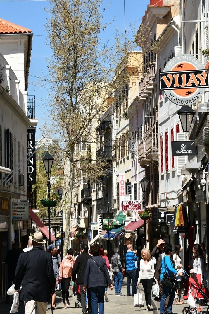 El carrer Main Street de Gibraltar
