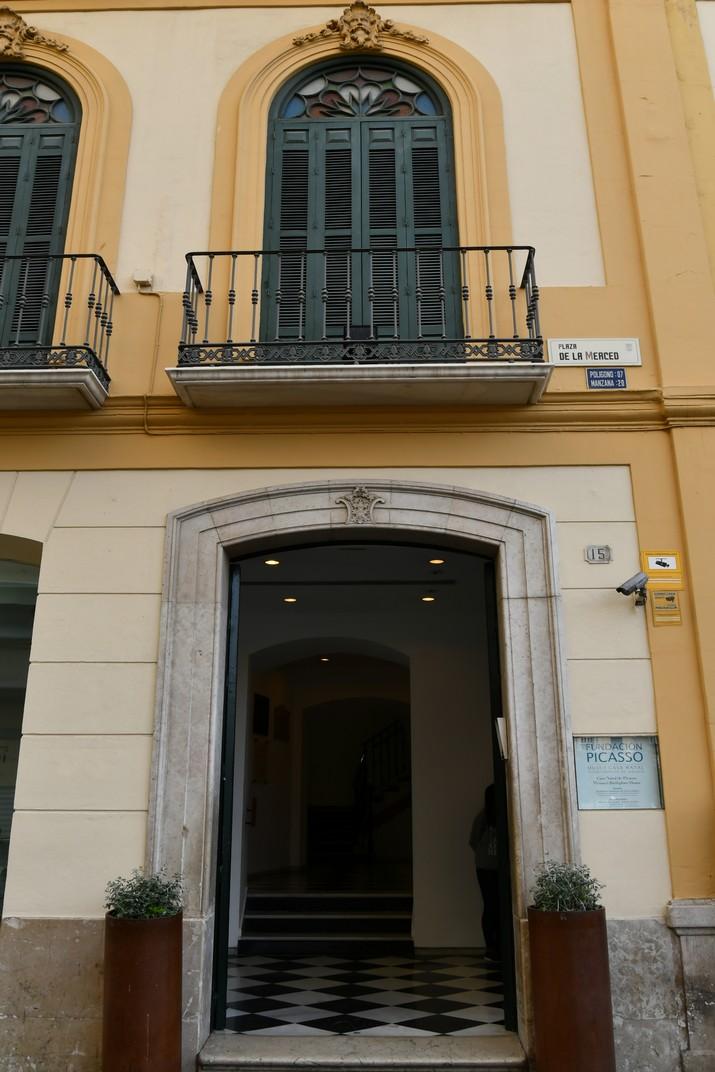 Entrada de la Casa Natal de Picasso a Màlaga