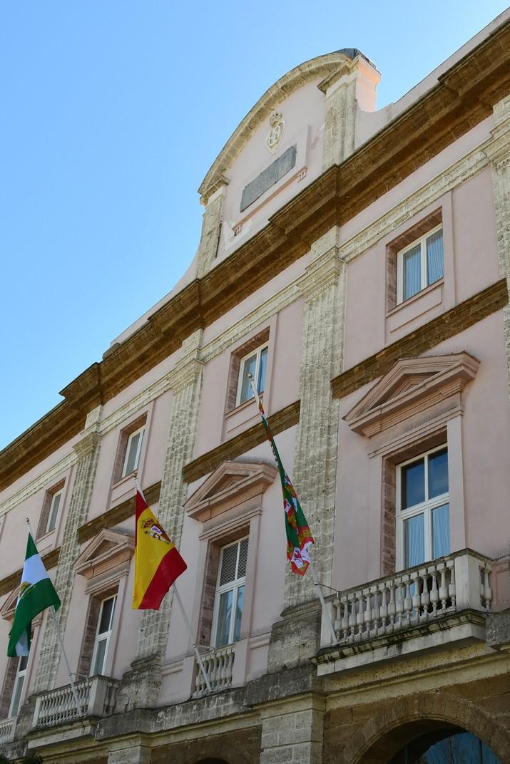 Façana principal del Palau de la Diputació Provincial de Cadis