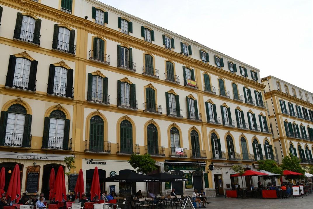 Façanes de la Plaça de la Mercè de Màlaga