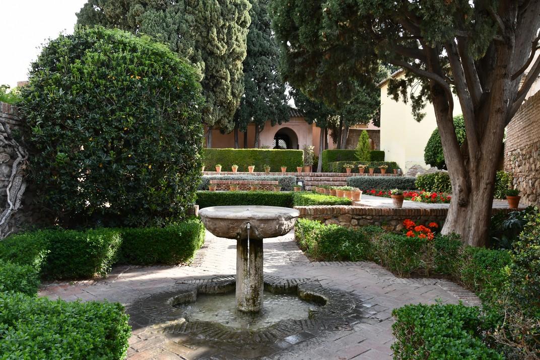 Font de l'entrada del Jardí del Palau de l'Alcassaba de Màlaga