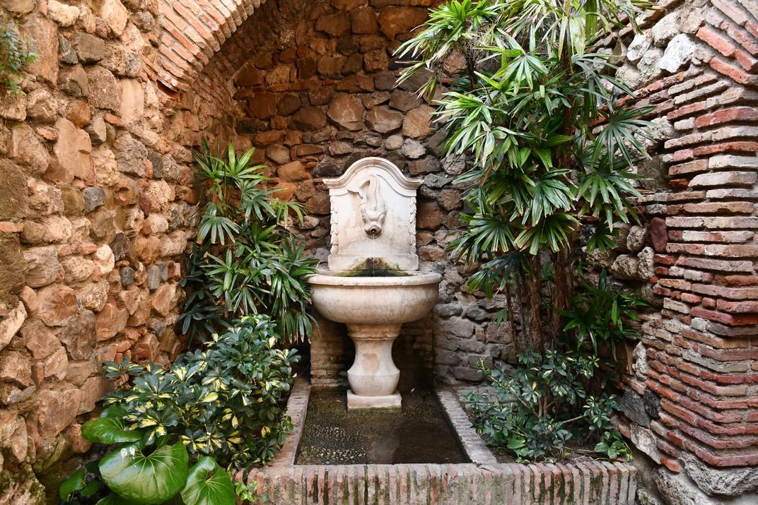 Font del Peix del Jardí del Palau de l'Alcassaba de Màlaga