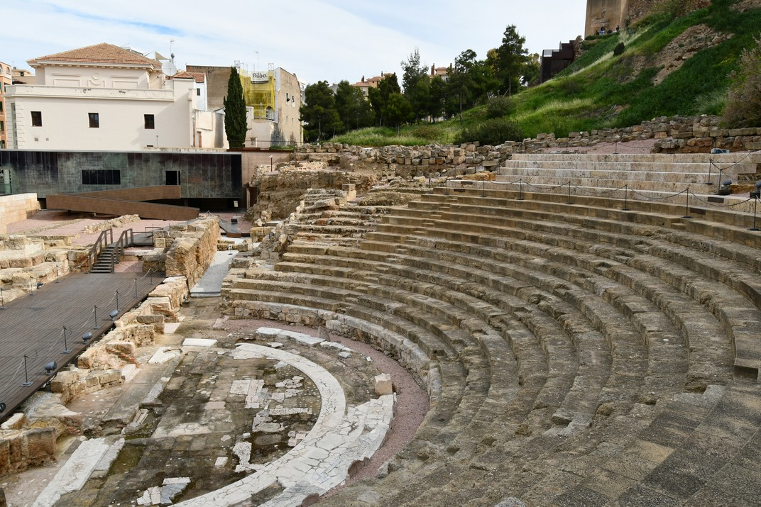 Grades del Teatre Romà de Màlaga