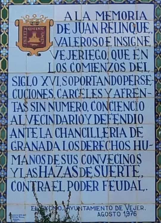 Inscripció de Vejer de la Frontera