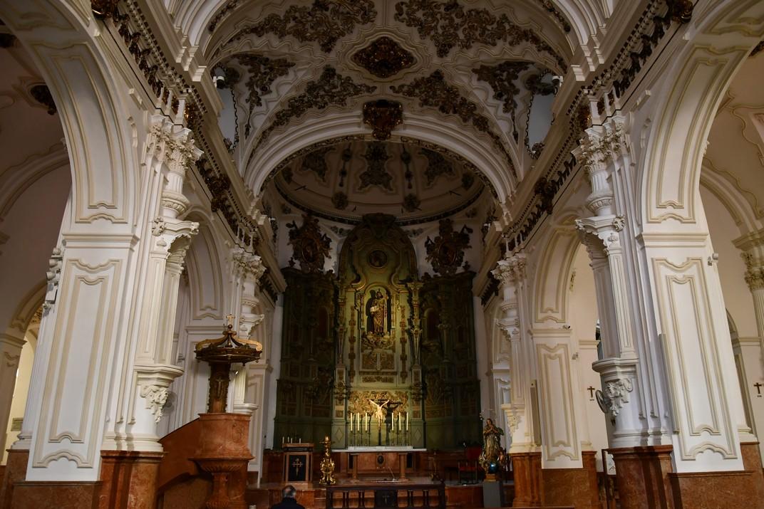 Interior de l'Església Santiago Apòstol de Màlaga