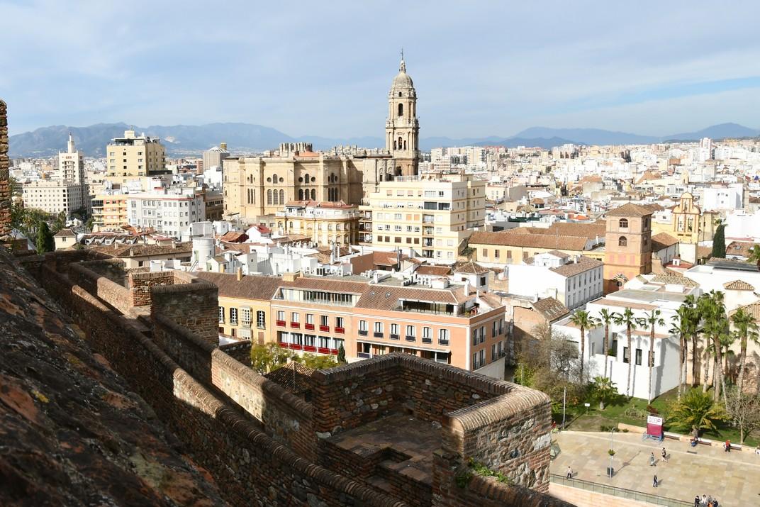 La Catedral des del Mirador del Palau de l'Alcassaba de Màlaga