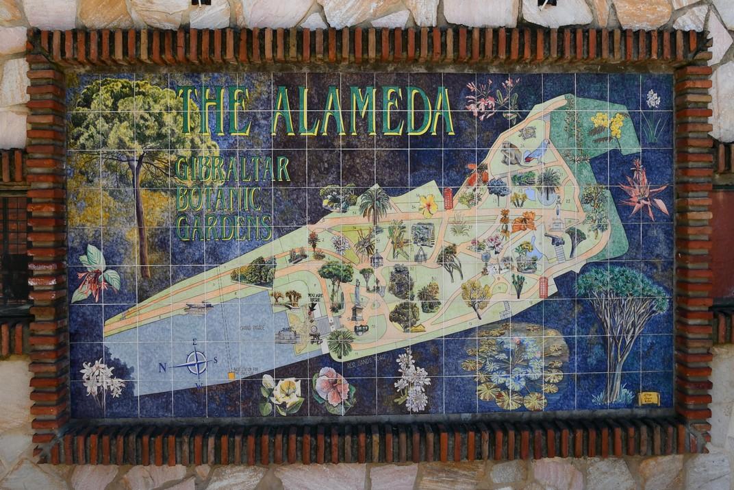 Mural dels jardins de l'Alamesa de Gibraltar