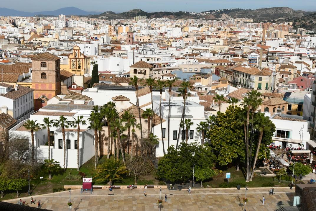 Nucli Antic des del Mirador del Palau de l'Alcassaba de Màlaga