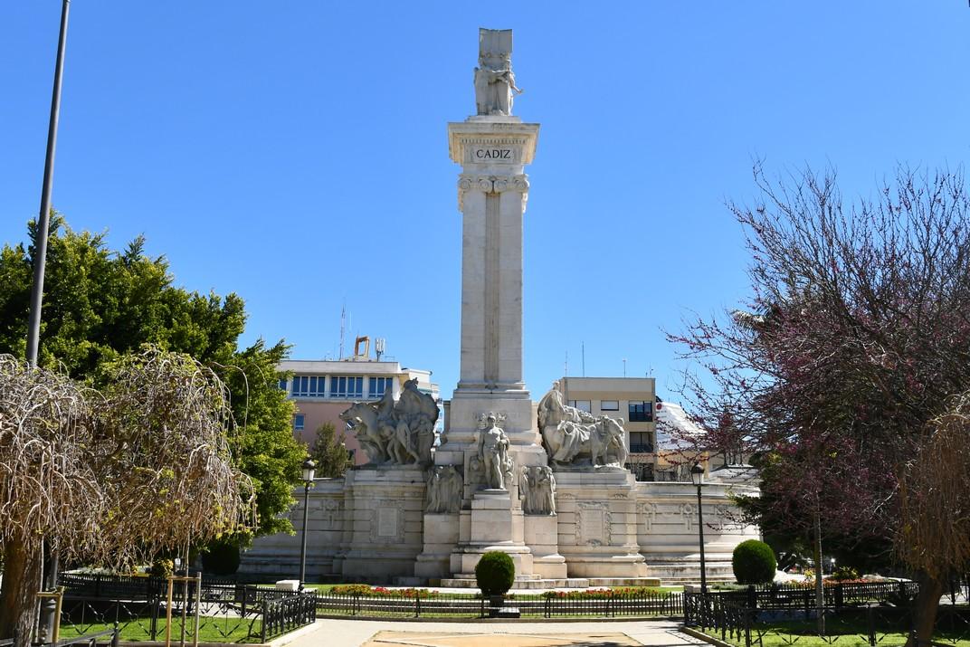 Part posterior del Monument a les Corts de Cadis de 1812