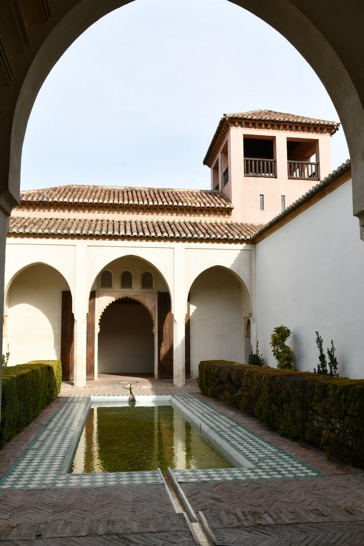 Pati de l'Alberca del Palau Nassarita de l'Alcassaba de Màlaga