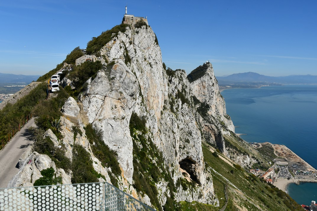 Penyal des de la plataforma de vidre - Skywalk - de Gibraltar
