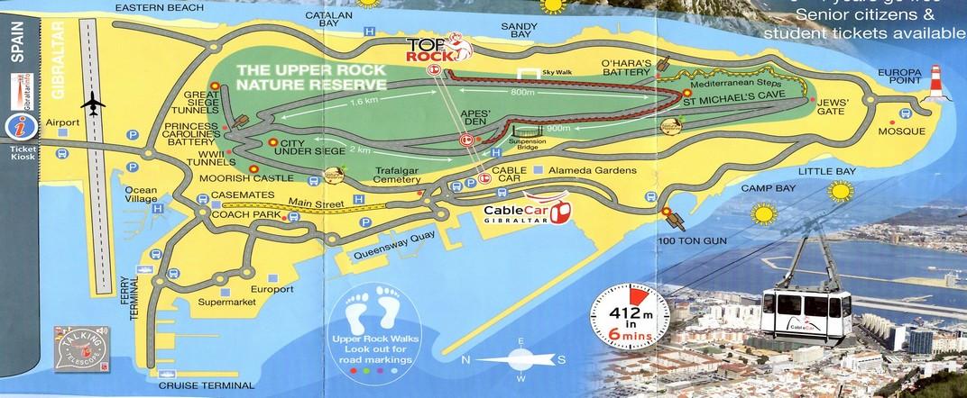 Plànol de Gibraltar
