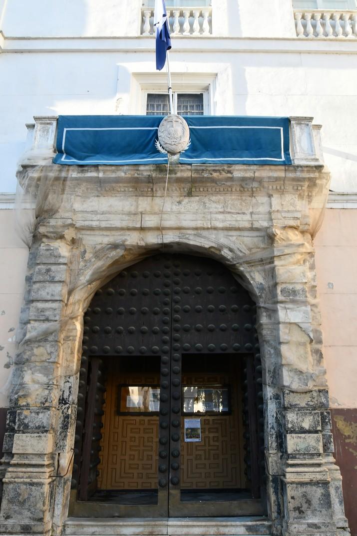 Portada de l'església de Sant Joan de Déu de Cadis