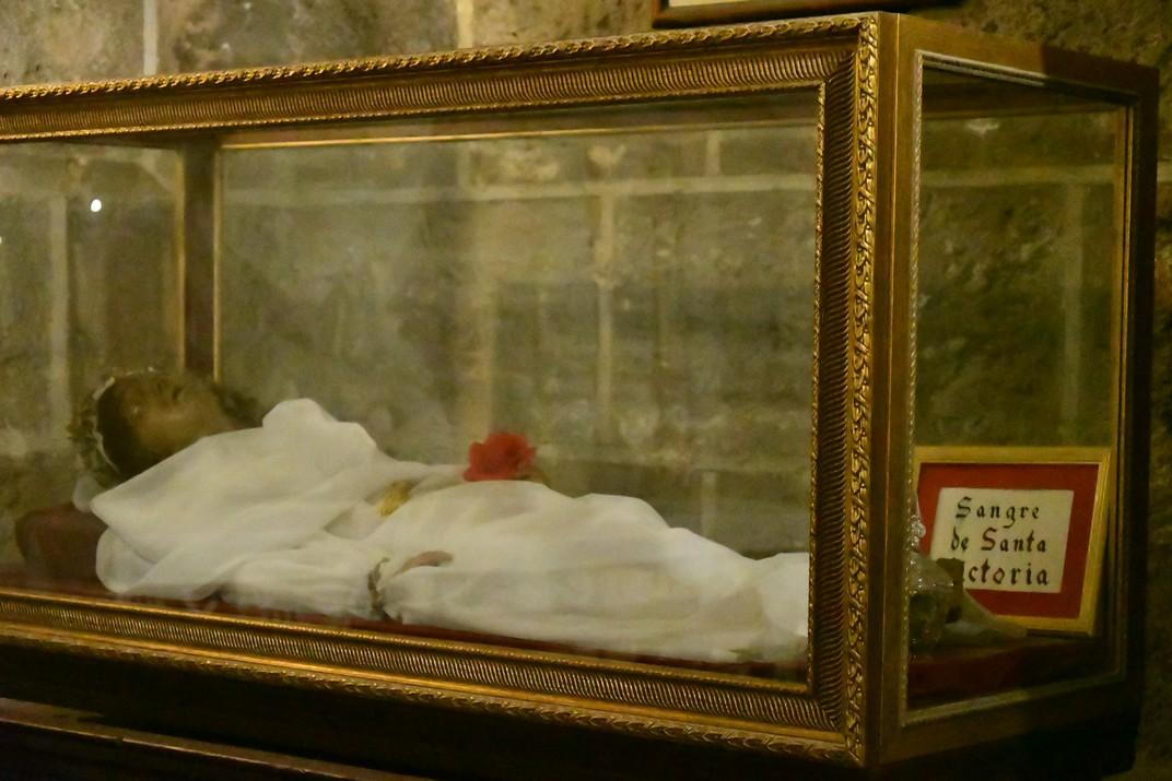 Relíquies de Santa Victòria de la Cripta de la Catedral de la Santa Creu de Cadis