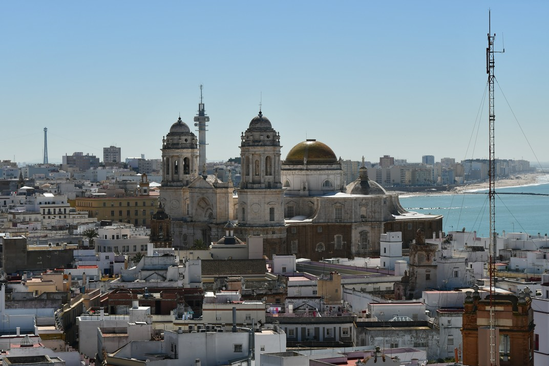 Vista des de la torre Tavira de la Catedral Nova de Cadis