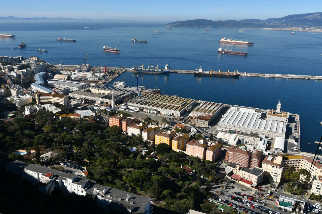 Vistes del port de Gibraltar