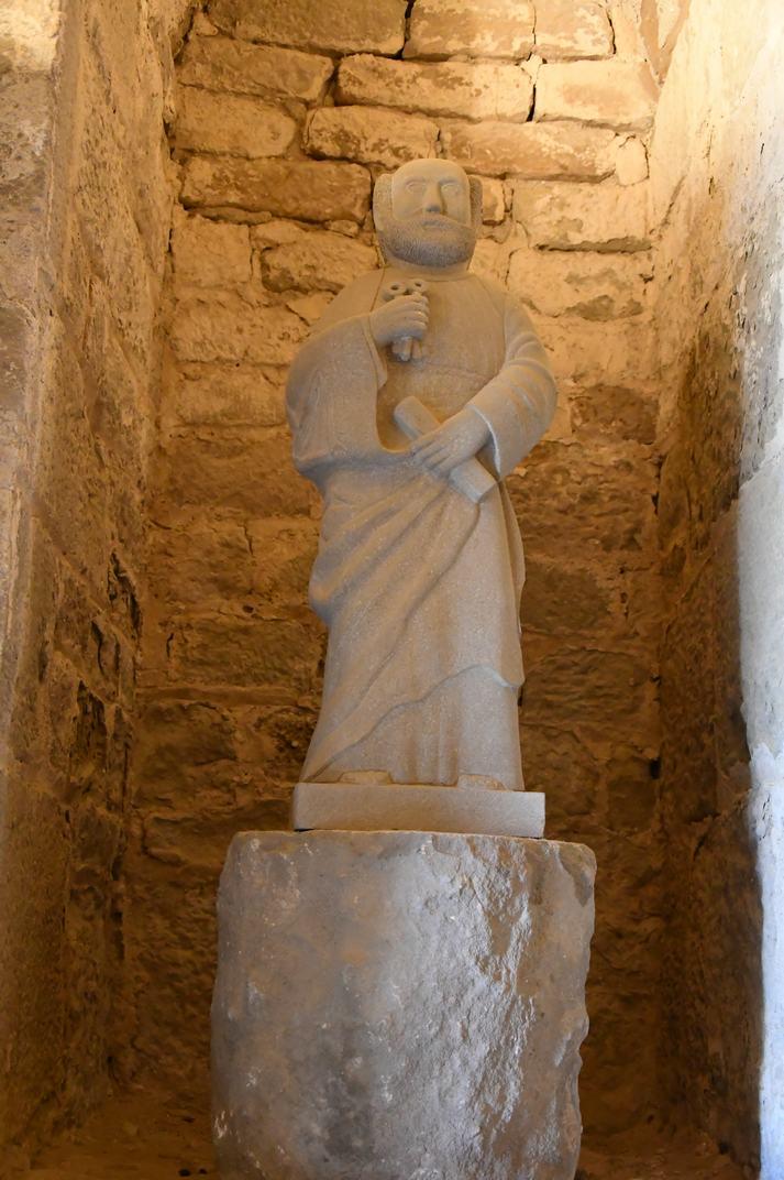 Estàtua de Sant Pere de l'església-canònica de Ponts