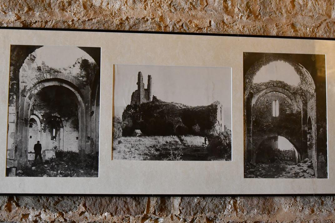 Imatges antigues de l'església-canònica de Sant Pere de Ponts
