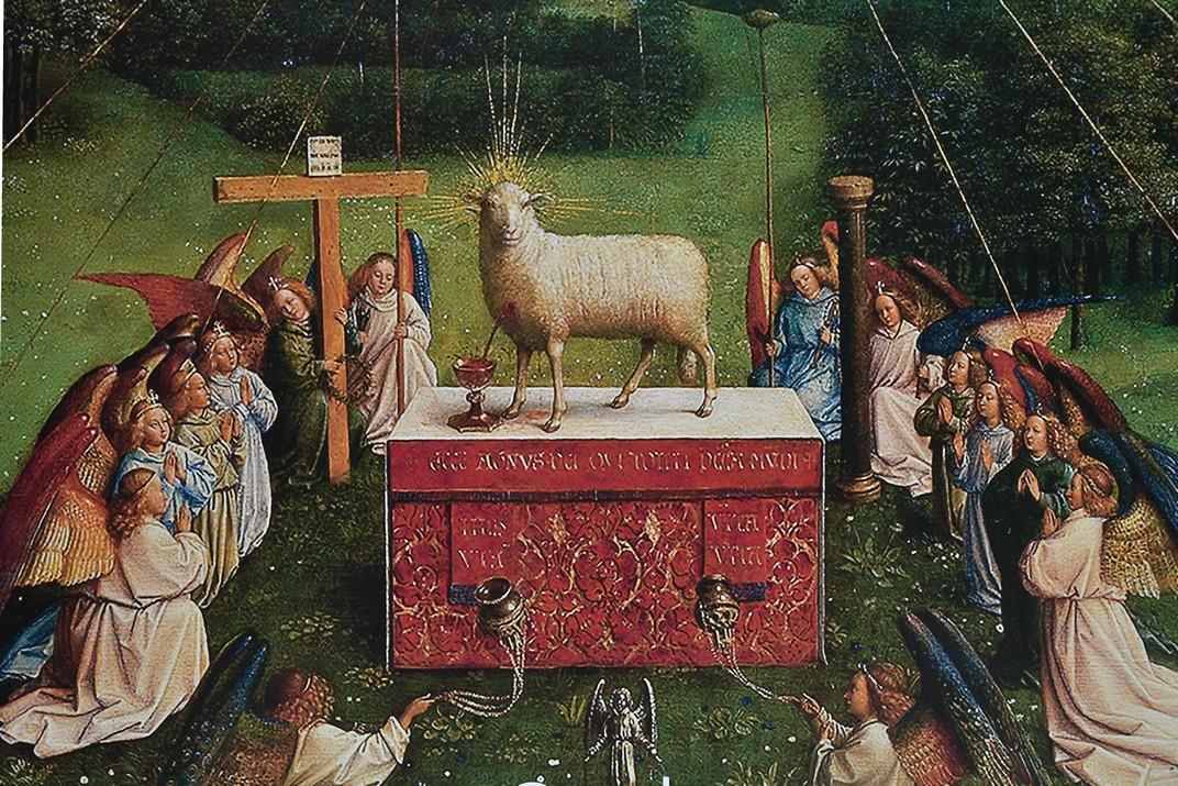 Anyell del Retaule de Gant de la Catedral de Sant Bavó