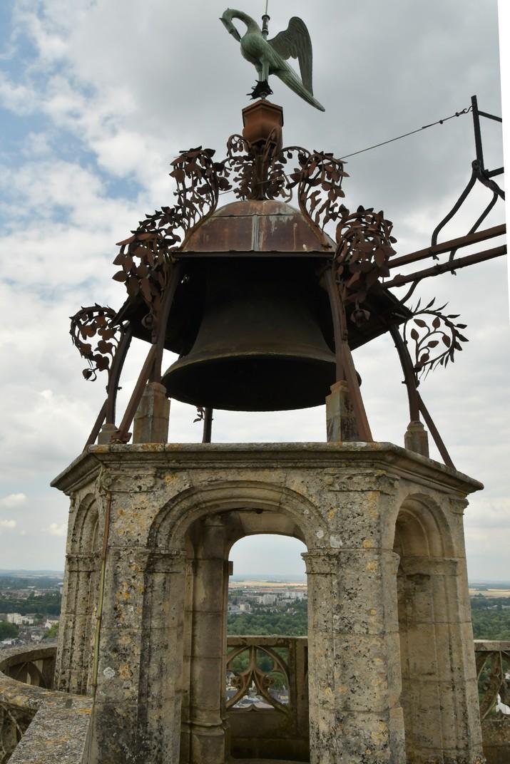 Campana del rellotge del terrat de la torre nord de la Catedral de Bourges