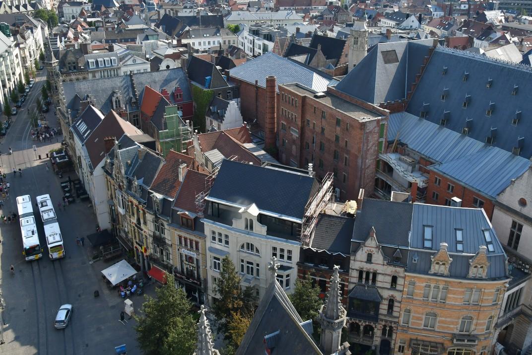 Cantonada del Teatre Reial Neerlandès des del Campanar de Gant