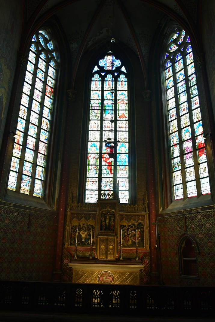 Capella del deambulatori de l'església de Sant Miquel de Gant