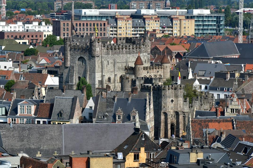 Castell dels Comtes des del Campanar de Gant