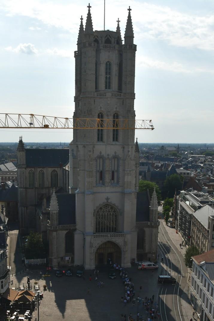 Catedral de Sant Bavó des del Campanar de Gant