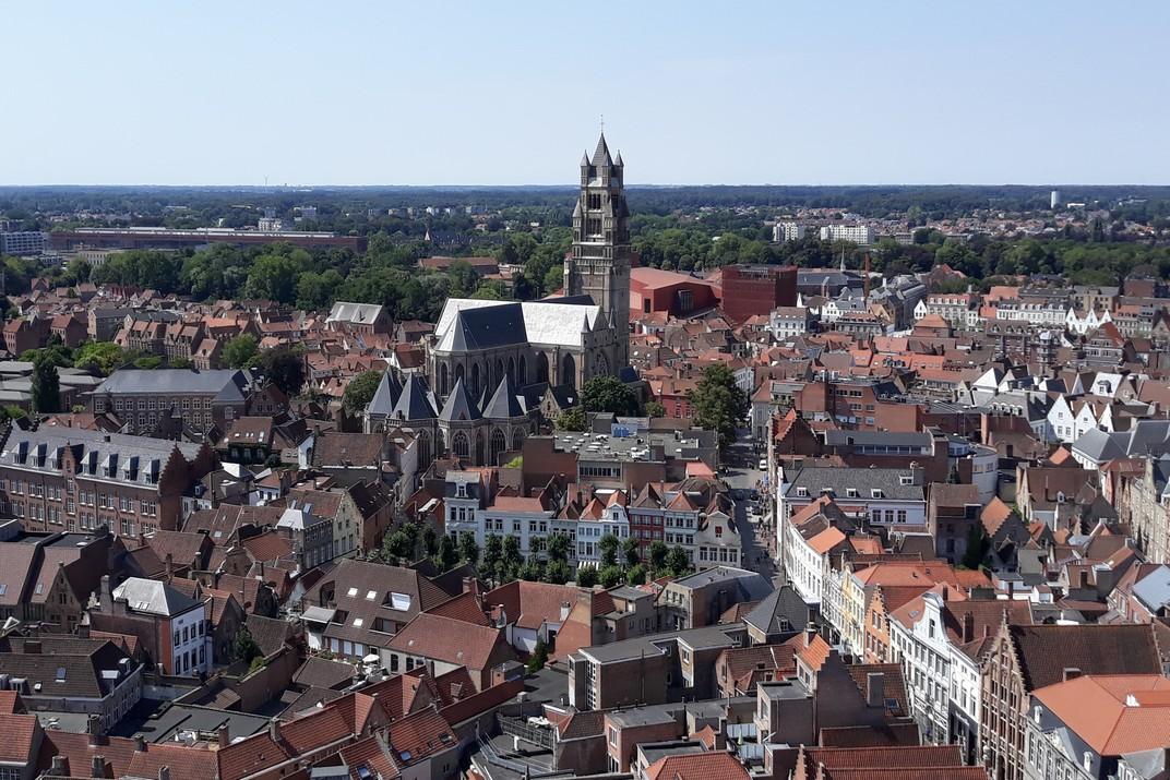 Catedral de Sant Salvador des del Campanar de Bruges