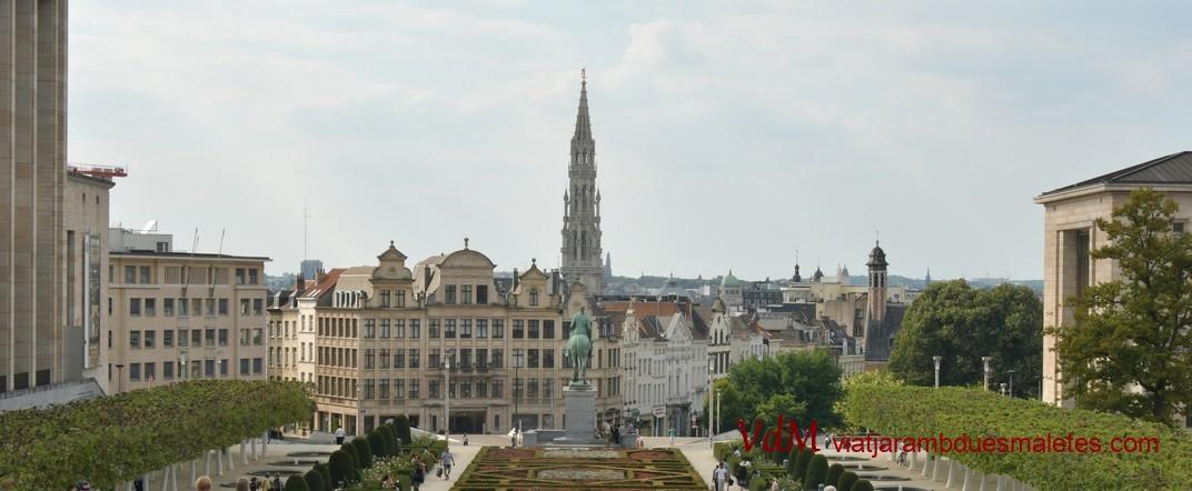 Ciutat Baixa des del Mont de les Arts de Brussel·les