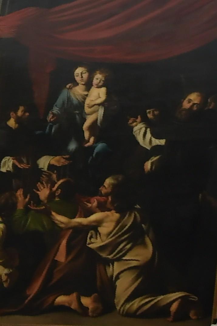 Còpia del quadre de Nostra Senyora del Rosari de Caravaggio de l'església de Sant Pau d'Anvers