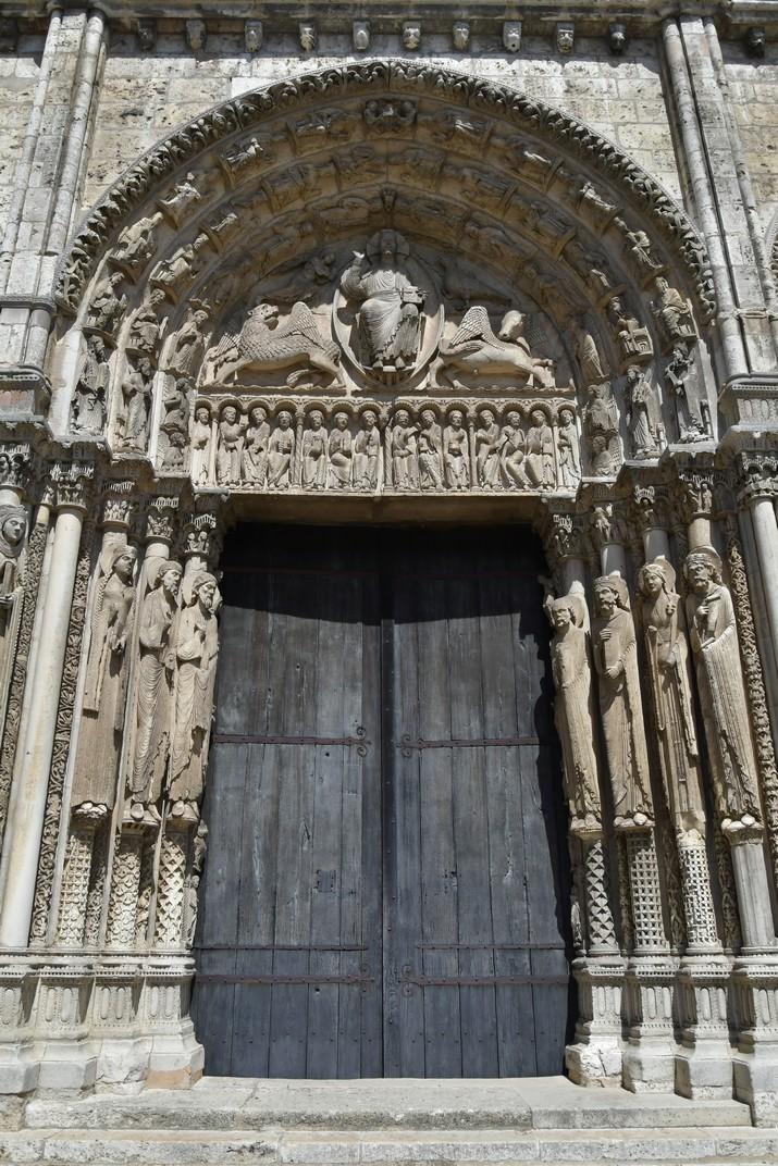 Crist en Majestat del Pòrtic Reial de la Catedral de Chartres