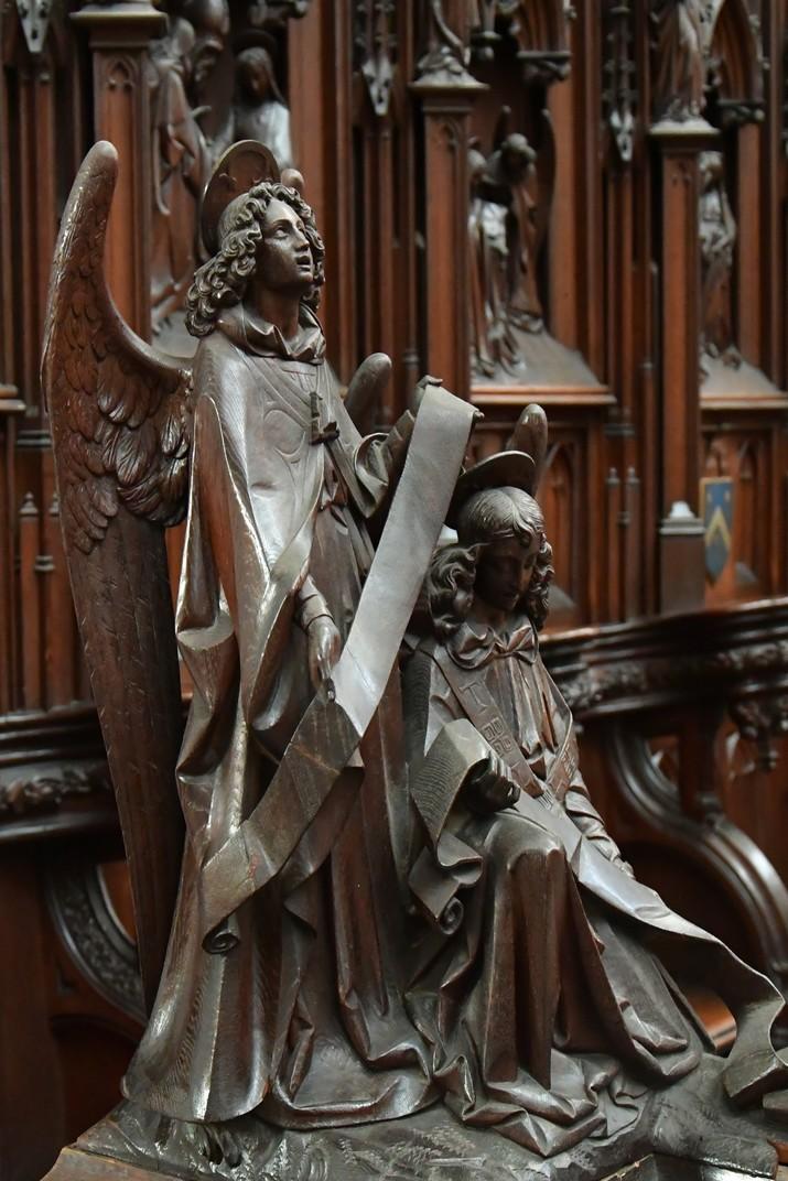 Detall del Cor de la Catedral de Nostra Senyora d'Anvers
